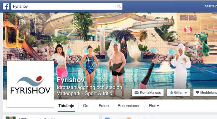 Printscreen på Fyrishovs facebookprofil