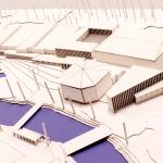 Modell över arkitektbidraget Norra stadsparken